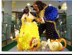 #balloon #beauty and the beast #balloon #art #sculptures #twist #characters #balloon #disney #princess #belle