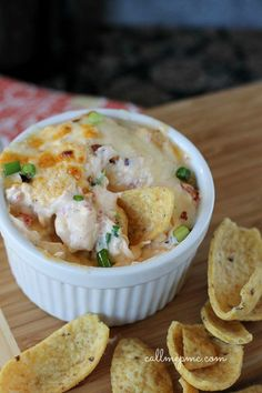 Hot Crawfish Cheese Dip - I made this for a football party and it was the first to go!