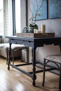 Chalk Paint® decorative paint by Annie Sloan in Graphite | Project by Lia Griffith