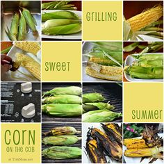 How to Grill Corn on the Cob in the husks at TidyMom.net