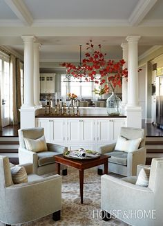 Sunken Seating Area - Sarah Richardson Designs | House & Home