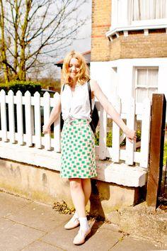The Girl Magazine wearing SS13 Orla Kiely Skirt