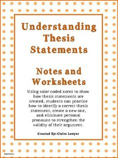 nhd thesis statement worksheet
