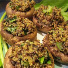 Quinoa Stuffed Mushrooms | Made Just Right by Earth Balance #vegan #earthbalance #recipe