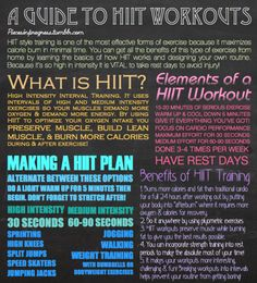 HIIT workouts - one of the most effective and time maximizing ways to workout.