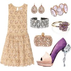 Lavender Cinderella, created by leiastyle on Polyvore