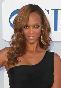 Tyra Banks loose and piece-y spiral curls