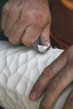 Michael Sherrill, NC ceramicist. Good idea on how to make texture