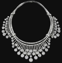DIAMOND NECKLACE, 1950S.