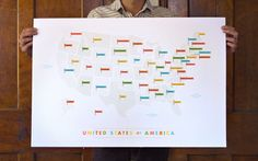 American Flags Map / from These Are Things. via Black Eiffel. #maps