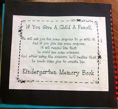 kfundament, kindergarten portfolio, memori book, year idea, kindergarten idea