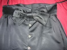 1950s Elinor Gay Originals Black Satin skirt by Cherrybombsvintage, $70.00