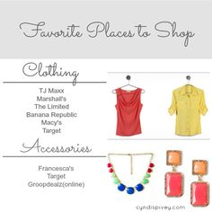 Favorite Places To Shop