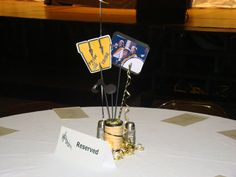 Centerpieces I designed for my daughter's highschool band banquet