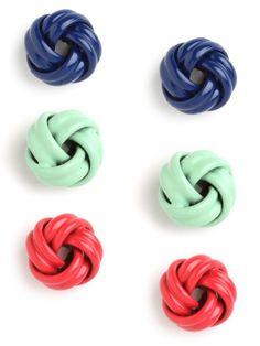 knot stud trio