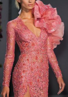 Romantic Pastel Flora | Ralph and Russo Spring Summer 2014 #hc #fashion #details