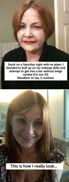 Makeup can really make a difference…  This is AWESOME!