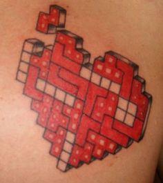Tetris is the way to my heart. #InkedMagazine #heart #tetris #geek #love #tattoo #tattoos #inked