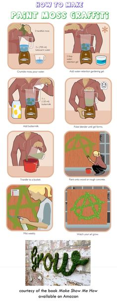 How to make paint-moss graffiti