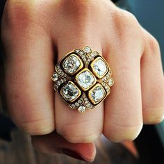 Now THIS is a statement ring! Pa Pow! #gorgeous #love #clusterring #singlestone #bling #vintage #showmeyourrings #instadaily #instajewels #statementring