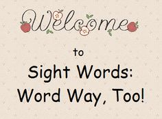 The Wonder of Words - excellent list of sight word activities for use at home or school!
