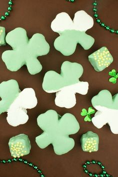 Homemade Shamrock Marshmallows for St. Patty's Day