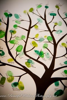 thumbprint family tree   guest book