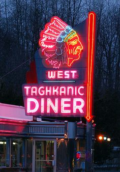 West Taghkanic Diner - have eaten here several times.  The sign is better than the food... #neonisthebest