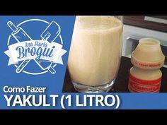 Ana Maria Brogui #107 - Como fazer Yakult (1 Litro) - YouTube #receita #yakult