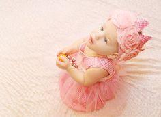 1st birthday  pink baby girl princess dress photo by bonbonLand, $33.00