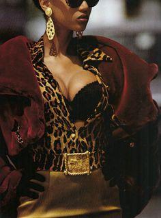 "artismyhustle:    ""Crazy By Design"", Elle US, July 1992Photographer: Gilles BensimonModel: Tyra Banks (BB)"