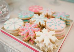frozen inspired ice princess party by wh hostess #whhostess #frozen #iceprincess #princess #kidsparties #girlparties #snowflake #desserttable #papergoods #stationery #sugarcookies