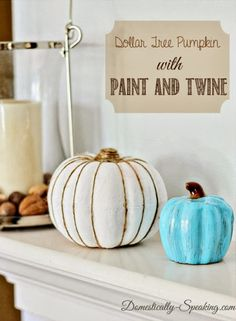 Creative Bloggers Of The Week holiday, autumn, fall, tree pumpkin, dollar store crafts, painted pumpkins, reception centerpieces, diy projects, halloween