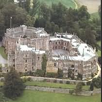 Berkeley Castle, where Edward II is believed to have been murdered here in 1327 on the orders of Mortimer and Isabella. But in his biography of Edward III, Ian Mortimer says that E-II didn't die here -- he lived on in exile on the Continent, and Edward III knew that. Interesting assertion.