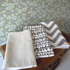 Baby Burp Cloths Modern Grey, again great patterns, will diy