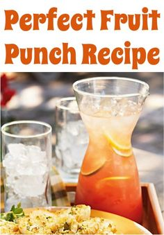 Perfect Fruit Punch Recipe ~ cranberry juice, pineapple juice, orange juice, grenadine syrup, lime juice...  serve this at your summer parties, showers, or year round!