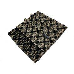 Buy mens autumn winter tartan houndstooth print tassel cashmere scarf pashmina yellow MES0017