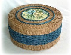 Газеты плетение шкатулки