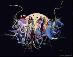 """Warrior Women"" by Dana Tiger. Creek/Seminole and Cherokee descent."