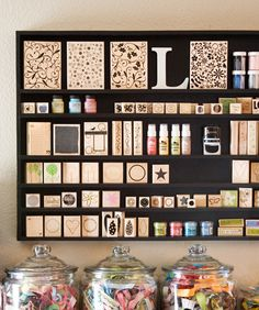 Stamp storage that is an art form as well.