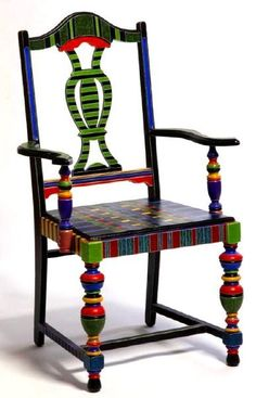 Beautiful chair painted by Pearle of Pearle's Pretty Pieces