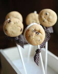 cookie sandwiches on sticks