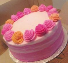 Ribbon Rose Cake