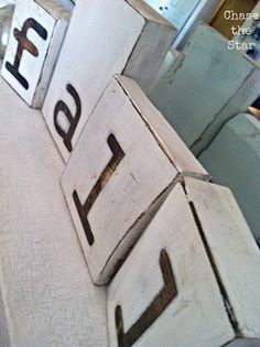 How to Make a Rustic Wood Blocks Sign