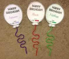 Balloon Print out with crazy straw, pencil or pixie stick as balloon string schools, birthdays, craft junki, birthday favors, school birthday treats, crafts, birthday gifts, kid, back to school