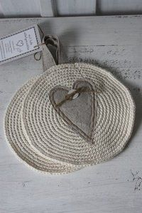 ♥ tl19 natur, topflappen tl19, place mats, christmas gifts