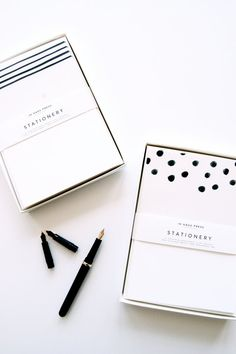 Dots & Stripes Stationery Sets by inhauspress on Etsy