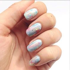 Pastel Galaxy Mani