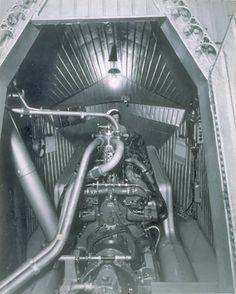 USS Macon Interior: Engine compartment.