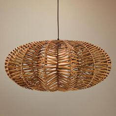 Antigua Rattan Flat Round Pendant Light | LampsPlus.com https://svpply.com/item/840643 wanted by @wickerparadise , who thinks outdoor wicker furniture should be all year round!